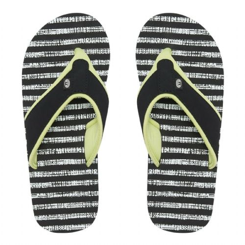 ANIMAL WOMENS FLIP FLOPS.SWISH AOP BLACK STRIPED SOFT TOE POST THONGS 9S 11/S89
